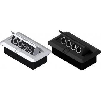CB2XMF/G - Floor Connection Box - 2 Xlrfem &2 Xlr M Connectors/grey