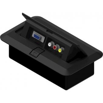 CB3VGA/B - Floor Connection Box - 3rca&svg A Connector/black