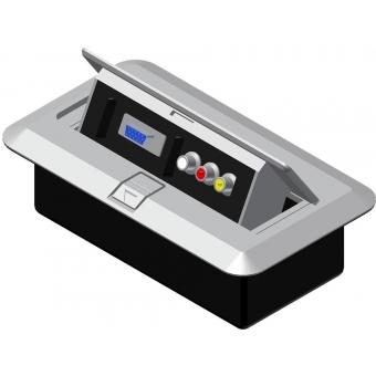 CB3VGA/G - Floor Connection Box - 3rca&svga Connector/grey