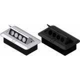 CB4XD/B - Floor Connection Box - 4d-size Connectors/black