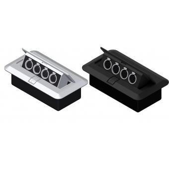 CB4XFF/B - Floor Connection Box - 4 Xlrfem Connectors/black