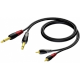 CLA631/3 - 2x Jack Male Mono - 2xrca/cinch Male - 3m