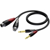 CLA707/2 - 2x Xlr Female - 2x Jack Male -2m