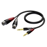 CLA708 - 2 x XLR male to 2 x 6.3 mm Jack male - 1 METER
