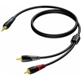 CLA711/3 - Mini Jack Male Stereo - 2xrca/cinch Male - 3m