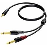 CLA713/1.5 - Mini Jack Male Stereo - 2xjack Male - 1.5m