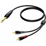 CLA719/3 - Jack Male Stereo - 2xrca/cinch Male - 3m