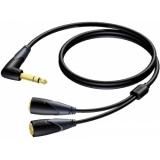 CLA720/1.5 - Jack Angled Male Stereo - 2xjack Female Stereo - 1.5m