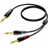 CLA721/3 - Jack Male Stereo - 2x Jackmale Mono - 3m