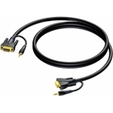 CLV115/3 - Svga Male/jack Stereo - Svgamale/jack Stereo - 3m