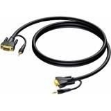 CLV115/1.5 - Svga Male/jack Stereo - Svgamale/jack Stereo - 1.5m
