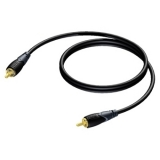 CLV162 - RCA/Cinch male to RCA/Cinch male - 75 Ohm - 0,5 METER