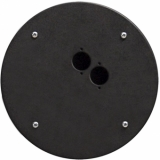 CRP302 - Center Connection Plate2 X D-size Hole - Alu
