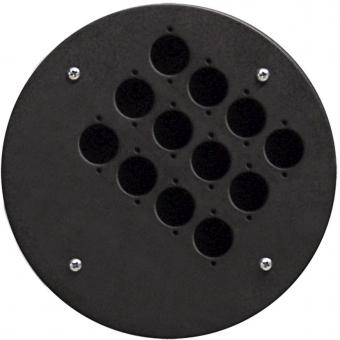 CRP312 - Center Connection Plate12 X D-size Hole - Alu
