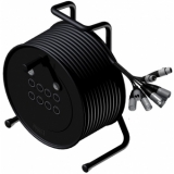CRX08.2/10 - Cable Reel + Balanced Signal Cable 8 In & 2 Out - 10 Meter