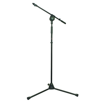 CST215_B - Lightweight microphone stand with extendable boom arm adjustable from 500 tot 900 mm.