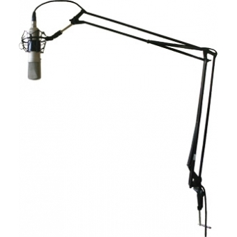 """CST238_B - Adjustable microphone desk arm with 3/8"""" thread for studios and multi media workstations."""