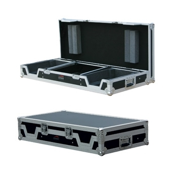 FCDJ2100 - Professional flight case for one mixer and 2 single CD-players - with removable top lid