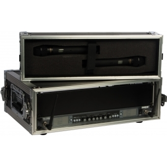 FCMK03 - Professional flightcase for wireless microphone systems with removable front and back lid.