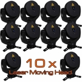 10 Units Set:    RTI Laser Moving Head RGB 3.2 - NEW