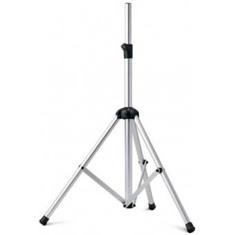 Speaker stand, aluminium, silver, nylon, h: 1040-1850 mm
