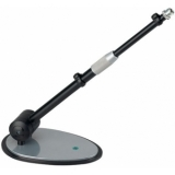 Table microphone stand, steel sheet base, ral 9005/silver