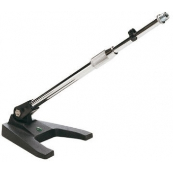 Table microphone stand, cast-iron, telescopic arm, chrome plated
