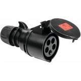 PC ELECTRIC CEE socket 32A 5p 6h black SHARK