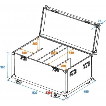 ROADINGER Flightcase 4x Audience Blinder 2xCOB #2