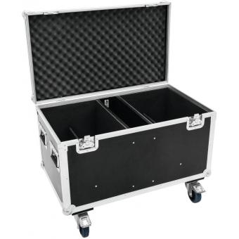 ROADINGER Flightcase 4x Audience Blinder 2xCOB #6