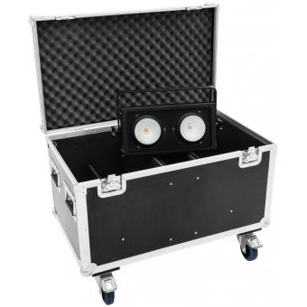 ROADINGER Flightcase 4x Audience Blinder 2xCOB #7