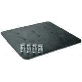 ALUTRUSS Base Plate 36x36 5kg for Decolock black
