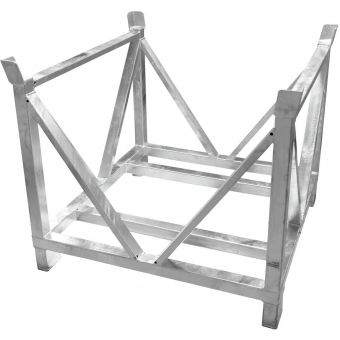 ALUTRUSS Dolly for Steel Base Plates Square 80x80