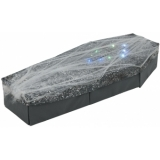 EUROPALMS Halloween Coffin with Spiderweb 120cm