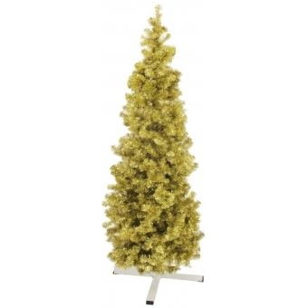 EUROPALMS Fir tree FUTURA, gold metallic, 180cm