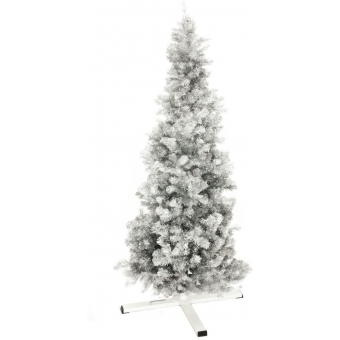 EUROPALMS Fir tree FUTURA, silver metallic, 180cm