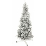 EUROPALMS Fir tree FUTURA, silver metallic, 180cm
