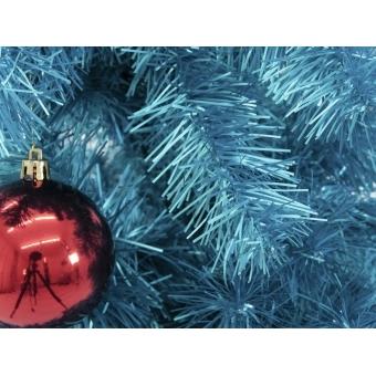 EUROPALMS Fir tree FUTURA, turquoise metallic,180cm #2