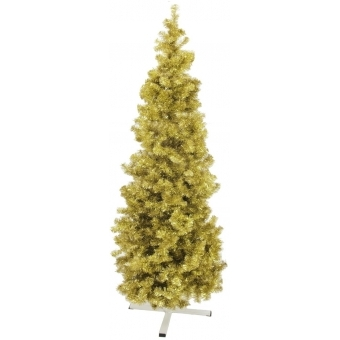 EUROPALMS Fir tree FUTURA, gold metallic, 210cm #3