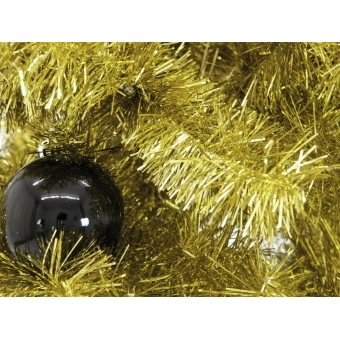 EUROPALMS Fir tree FUTURA, gold metallic, 210cm #4
