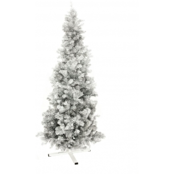 EUROPALMS Fir tree FUTURA, silver metallic, 210cm