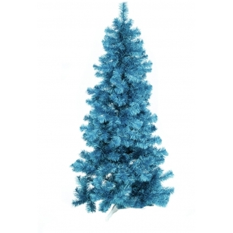EUROPALMS Fir tree FUTURA, turquoise metallic,210cm #1