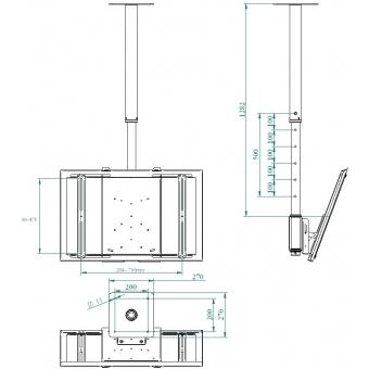 Ceiling mount bracket adjustable - Grey #3