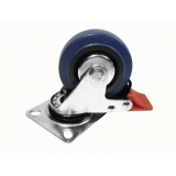 ROADINGER Swivel Castor 75mm blue with brake