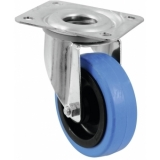 ROADINGER Swivel Castor 100mm BLUE WHEEL light blue