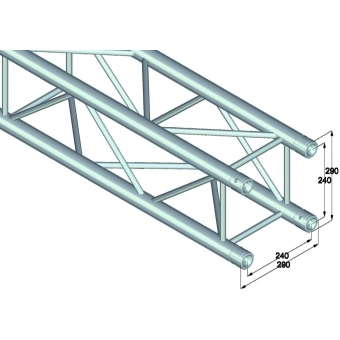 ALUTRUSS QUADLOCK QL-ET34-210 4-way cross beam #2