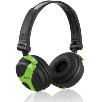 Earpad set black for AKG K 518 DJ and K 518 LE Fuchsia/Green/White #3