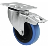 ROADINGER Swivel Castor 100mm BLUE WHEEL with brake