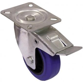 ROADINGER Swivel Castor 100mm blue with brake #4