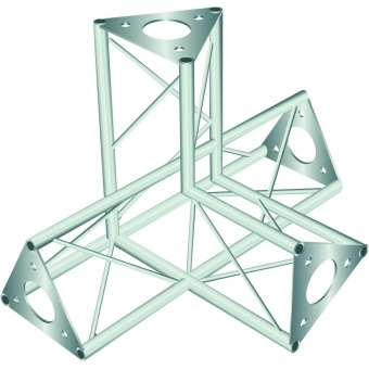 DECOTRUSS SAC-45 corner 4-way l+h silver #2